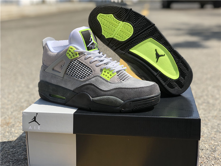 jordan 4 se neon grey max 95 neon shoes