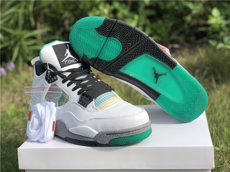mens jordan 4 retro rasta lucid green shoes