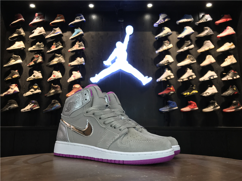 Air Jordan 1 Retro Grey Pink For Women