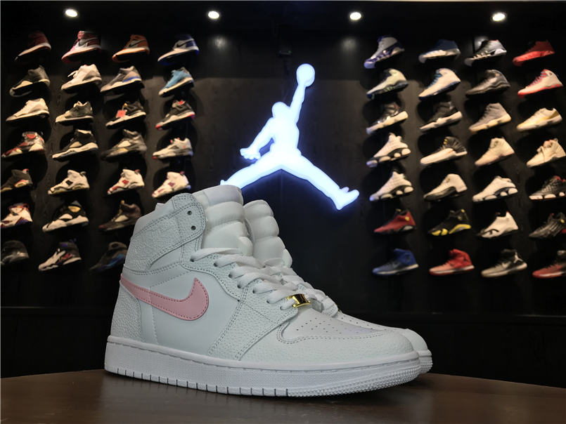 Air Jordan 1 Retro White Pink For Women
