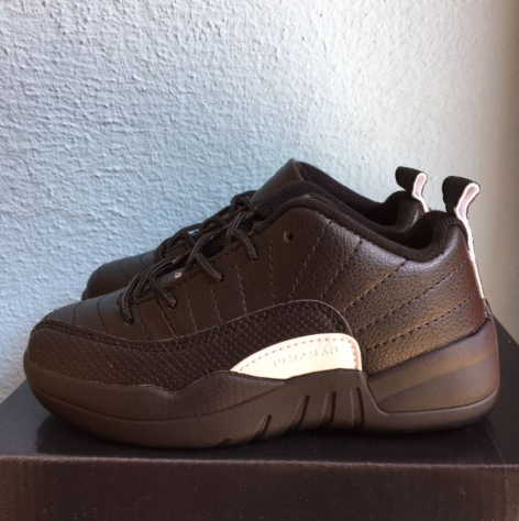 Air Jordan 12 Brown White Shoes For Kids
