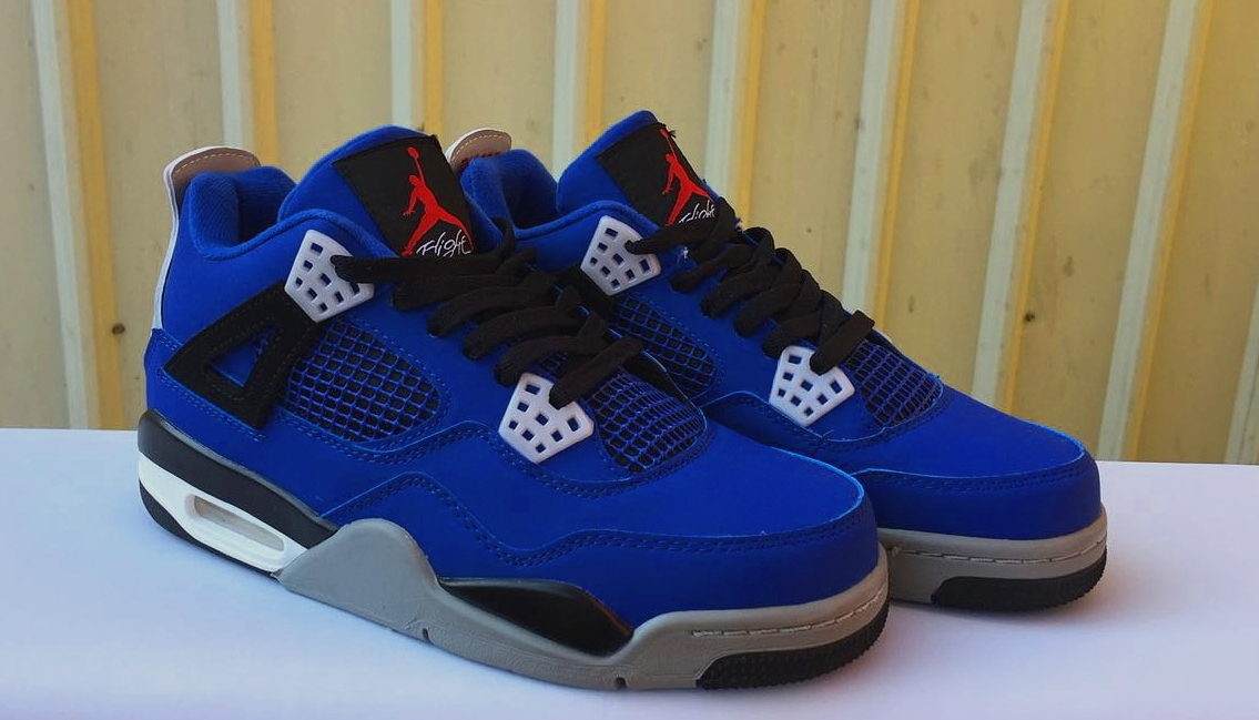 Air Jordan 4 Retro Eminem Blue Black Grey Shoes