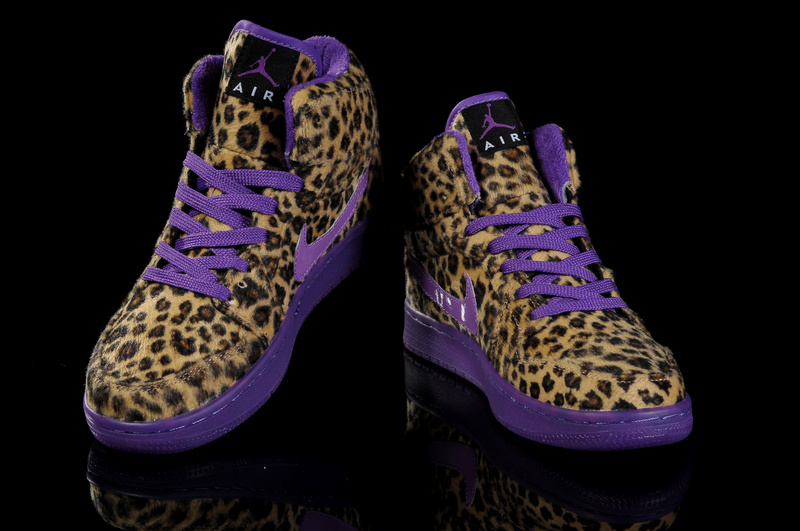 Cheap 2013 Air Jordan 1 Leopard Purple For Women