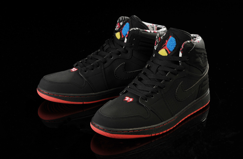 Air Jordan 1 Retro '93 Black Red Shoes