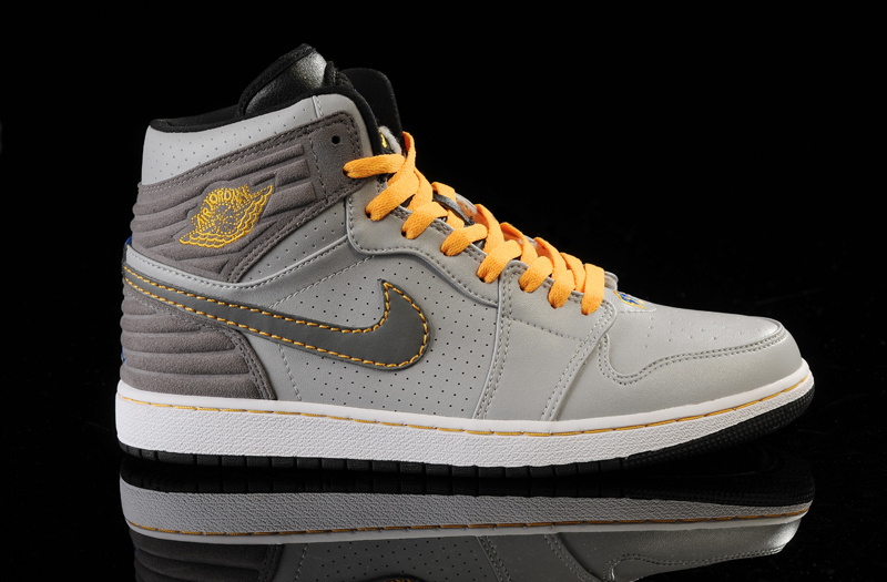 Air Jordan 1 Retro '93 Grey Yellow Shoes