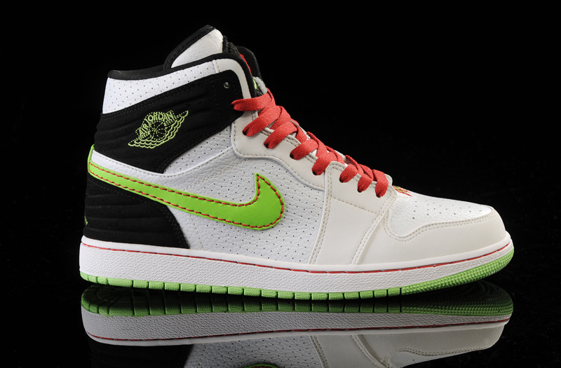 Air Jordan 1 Retro '93 White Black Green Red Shoes