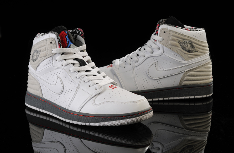 Air Jordan 1 Retro '93 White Grey Shoes