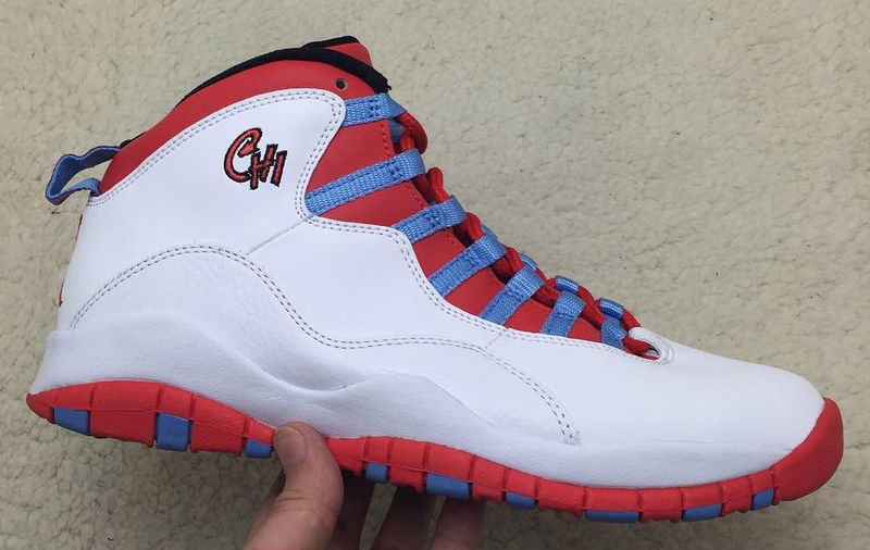 Air Jordan 10 Chicago Flag White Light Crimosn University Blue Black