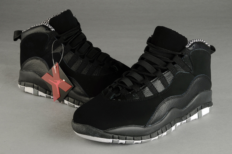 Air Jordan Retro 10 Shoes All Black