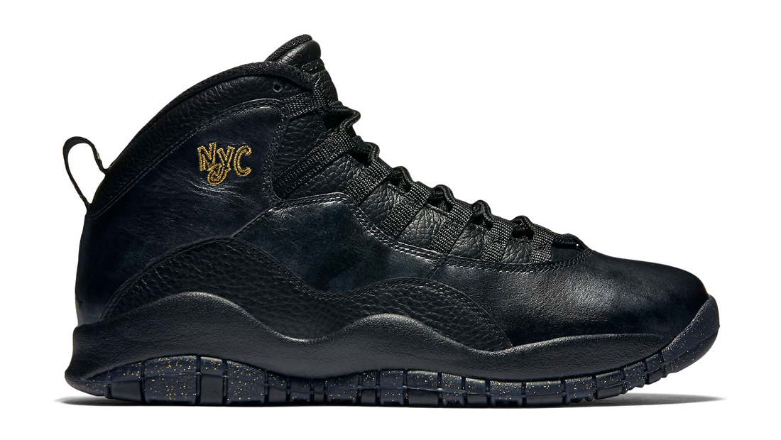 Air Jordan 10 NYC Black Black Dark Grey Metallic Gold