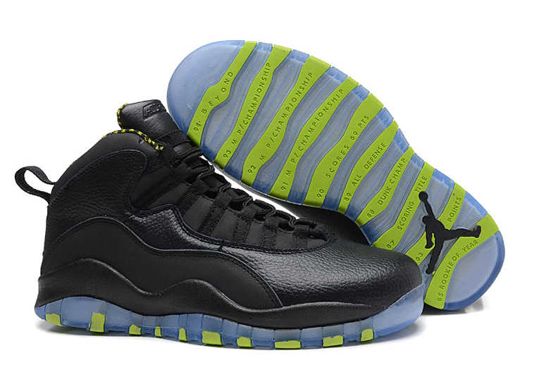 Air Jordan 10 X Retro Black Cool Grey Anthracite Venom Green