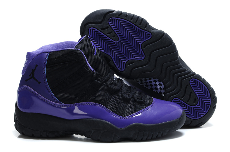 Authentic Jordan 11 Black Purple For Women