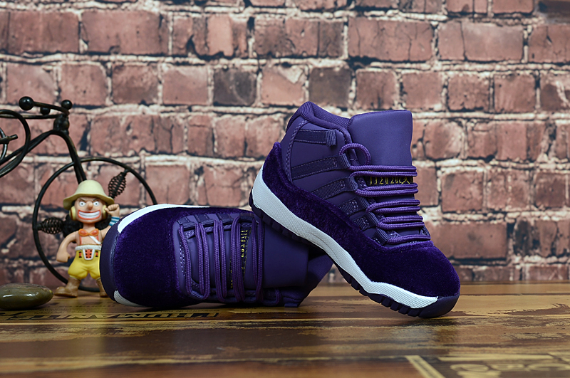 Air Jordan 11 Retro Velvet Purple White For Kids