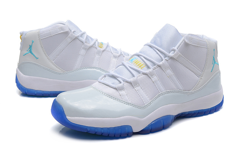 Air Jordan 11 Retro White Blue Shoes