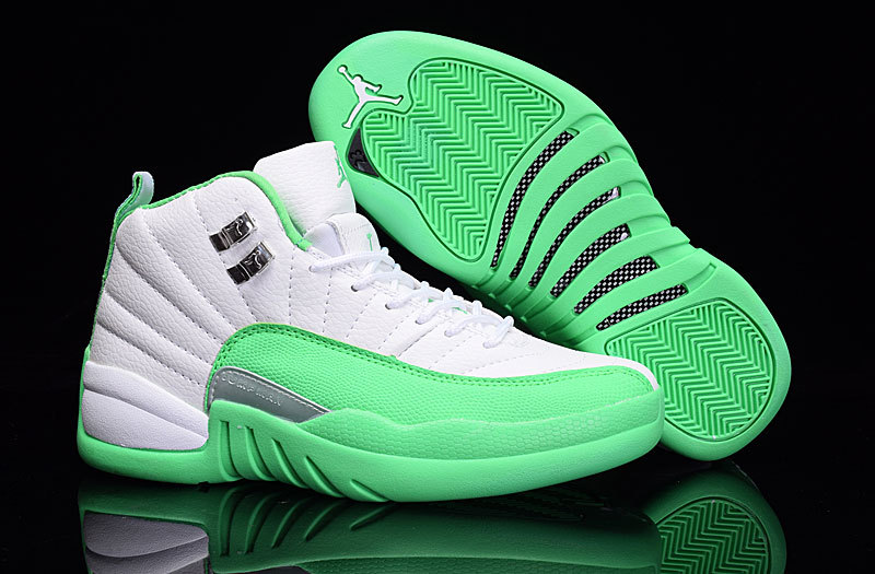 Air Jordan 12 GS White Green 2016 New Style Sale