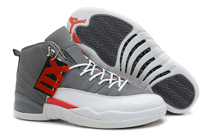 Air Jordan 12 Retro Cool Grey Total Orange White Cheap