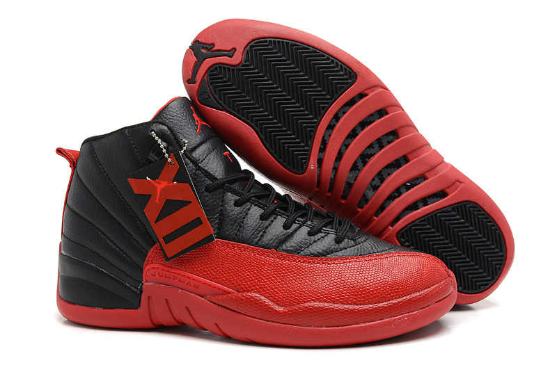 Air Jordan 12 Retro Flu Game Black Varsity Red