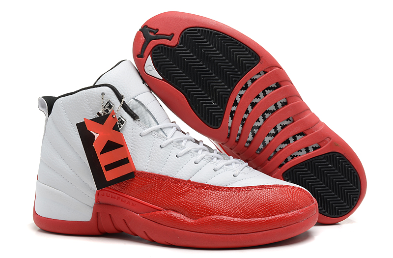 Air Jordan 12 Retro White Varsity Red Black Cheap