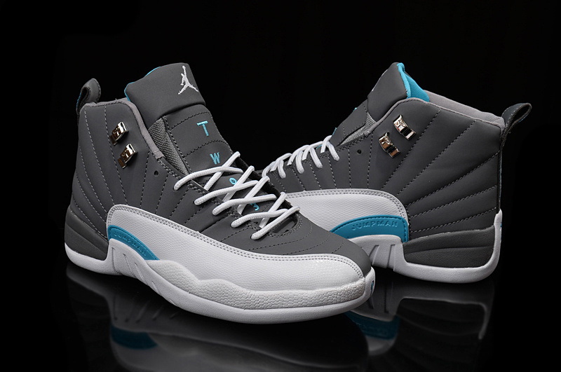 Air Jordan 12 Wolf Grey University Blue White
