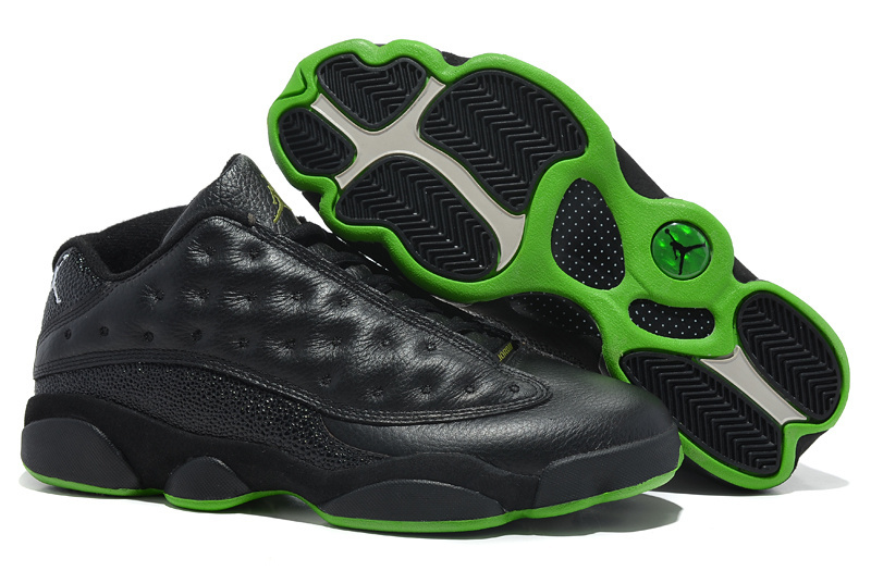 Air Jordan 13 Low Black Green Shoes
