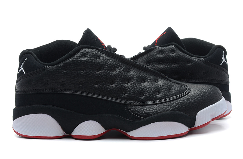 Air Jordan 13 Low Black White Red Shoes
