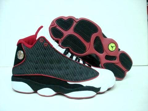 New Air Jordan Retro 13 Black White Red Footwear