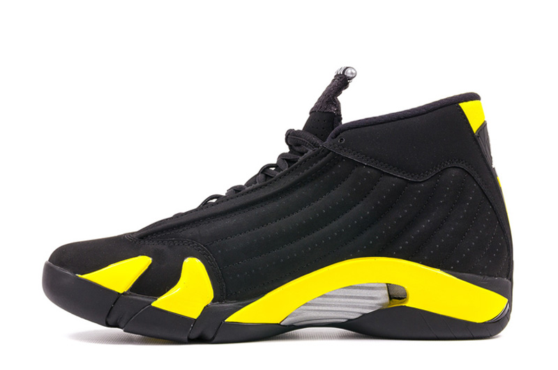 Air Jordan 14 Retro Thunder Black Vibrant Yellow White 2014 July