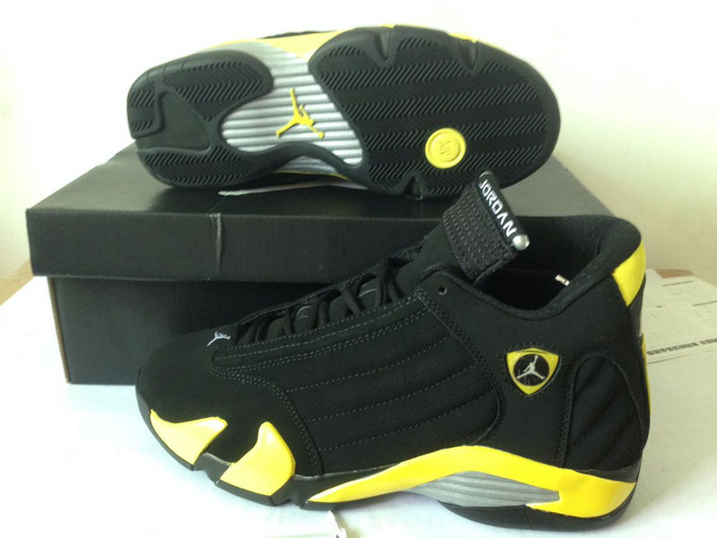 New Air Jordan Retro 14 Thunder Black Yellow Shoes