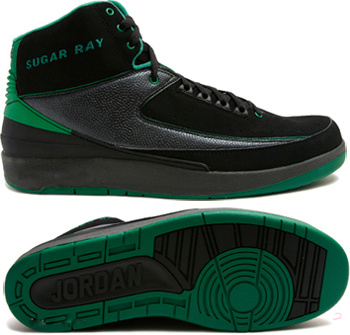 Cheap And Comfortable Air Jordan 2 Black Green Chrome