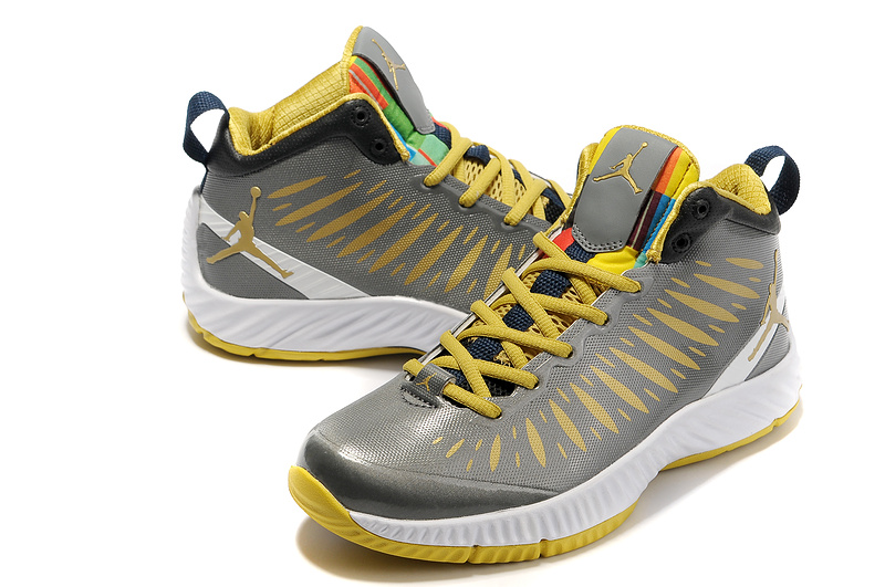 2012 Olympic Jordan Shoes Grey Yellow White