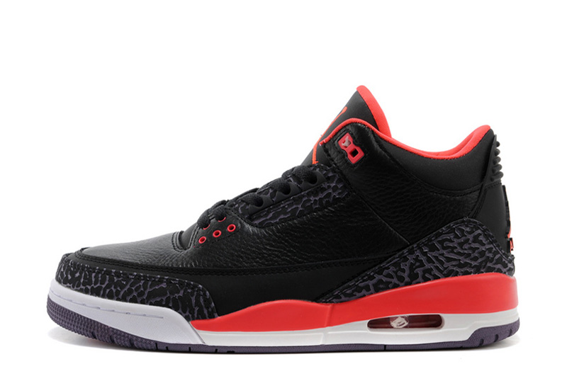 Air Jordan 3 Retro Black Bright Crimson Canyon Purple Pure Violet