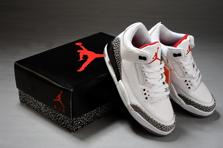 Air Jordan 3 Retro White Fire Red Cement Grey Black 2011