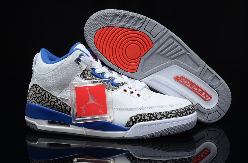 Air Jordan 3 Retro White True Blue Cheap