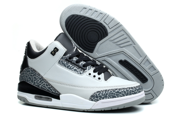 Air Jordan 3 Retro Wolf Grey Metallic Silver Black White 2014