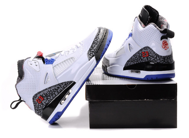 Special Jordan Shoes 3.5 White Grey Blue