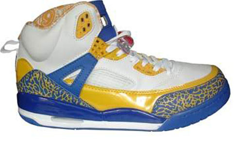 Special Jordan Shoes 3.5 White Yellow Blue