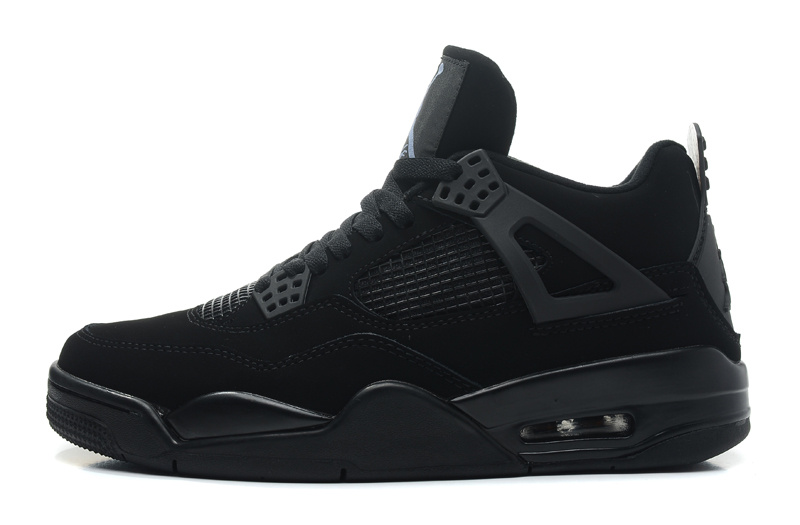 Air Jordan 4 Retro Black Cat Black Black Light Graphite