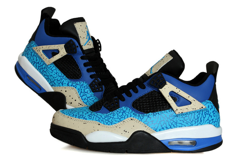 New Air Jordan Retro 4 Cookie Monster Shoes