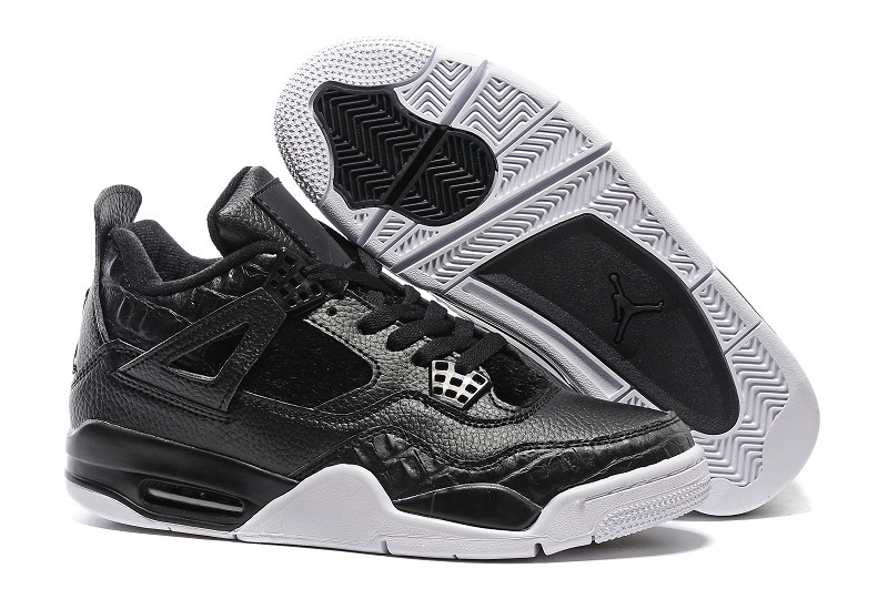 Air Jordan 4 Retro Premium Black Black Sail
