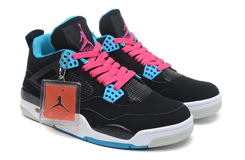 Air Jordan 4 Retro South Beach Black Dynamic Blue White Vivid Pink