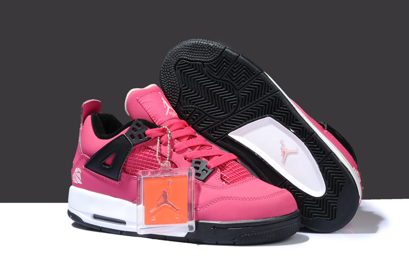 New Jordan 4 Thor Pink White Black Shoes