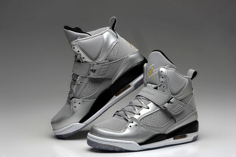 Air Jordan 45 Flight Silver Black For Women