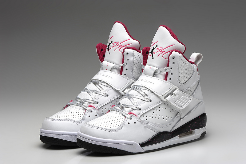 Air Jordan 45 Flight White Black Red For Women