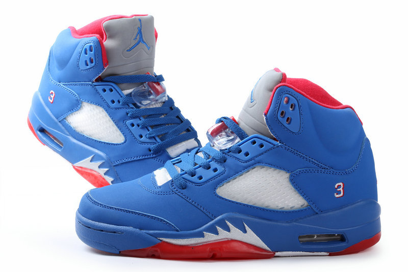 2013 Popular Jordan 5 All Blue Red
