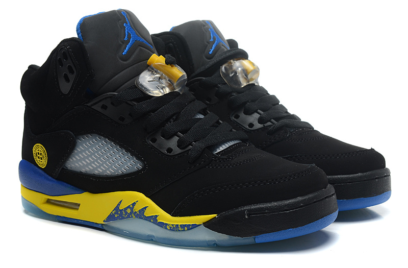 Air Jordan 5 Retro Shanghai Shen Black Varsity Maize Varsity Royal Black