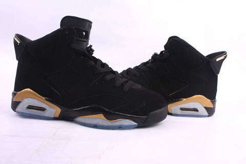 New Air Jordan Retro 6 Black Gold Footwear