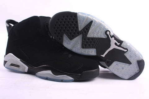New Air Jordan Retro 6 Black Grey Footwear