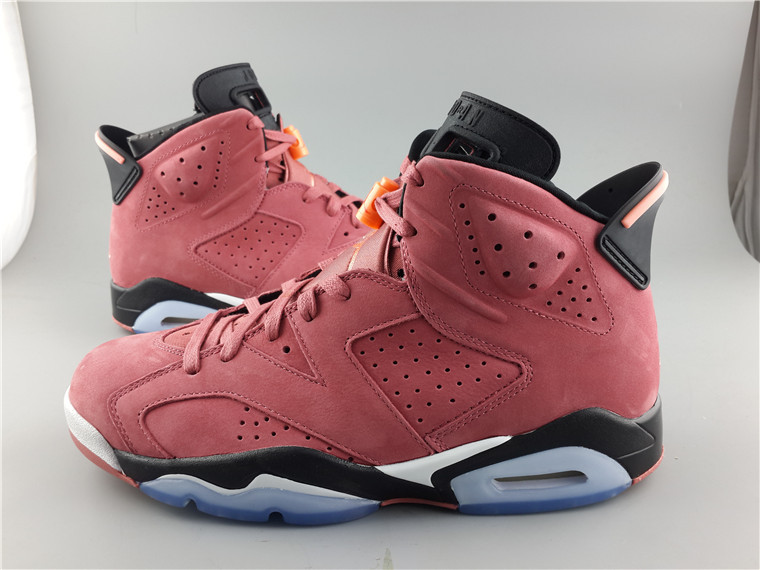 New Air Jordan Retro 6 Lipstick Red Shoes