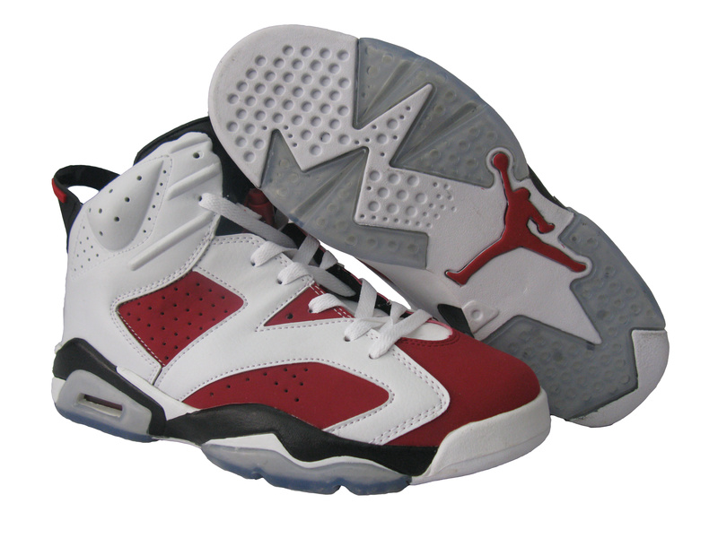 Original Jordan 6 White Red Black Shoes
