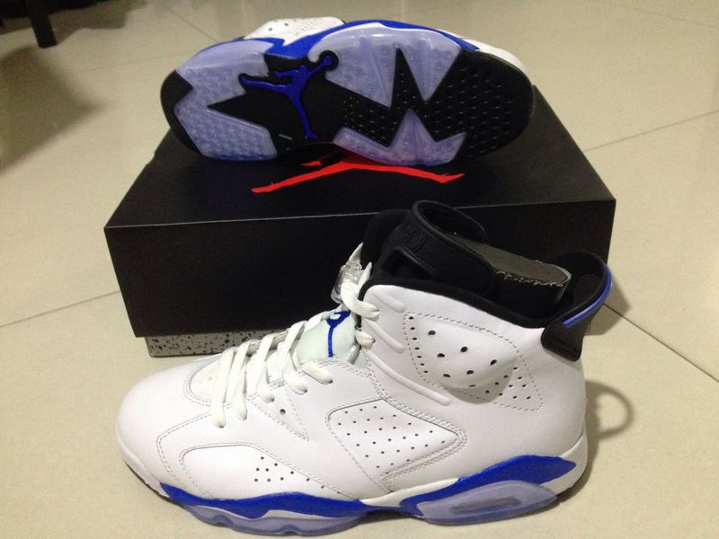 New Air Jordan Retro 6 Sport Blue Shoes